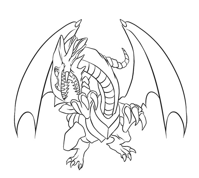 680x607 Blue Eyes White Dragon Coloring Page Kids Coloring Pages
