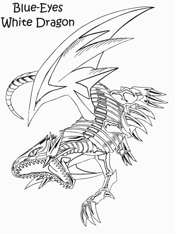 blue eyes white dragon drawing at getdrawings com free for