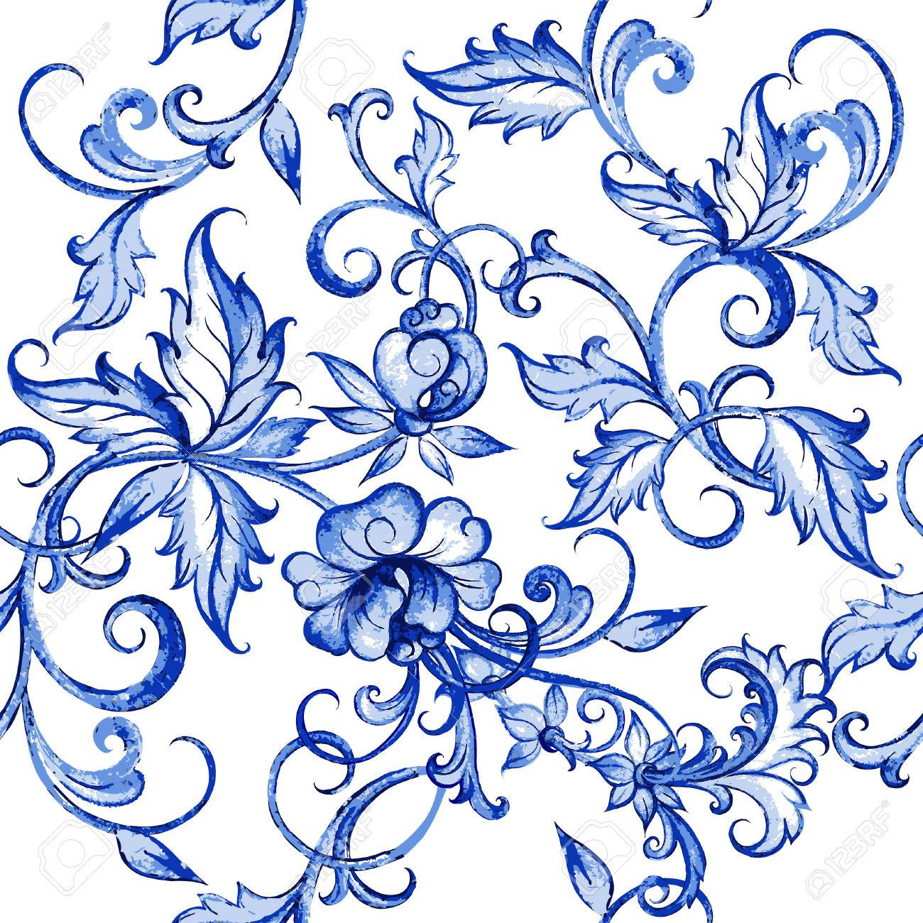 Blue flowers drawing at getdrawings free for personal use blue 1300x1300 vector floral watercolor texture pattern with flowerswatercolor izmirmasajfo