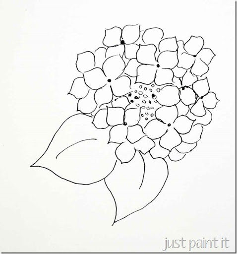 478x512 Paint Hydrangea