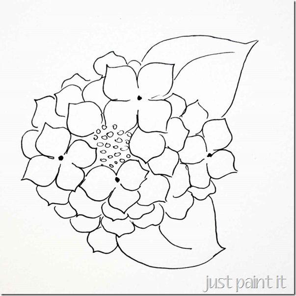 603x603 Paint Hydrangea