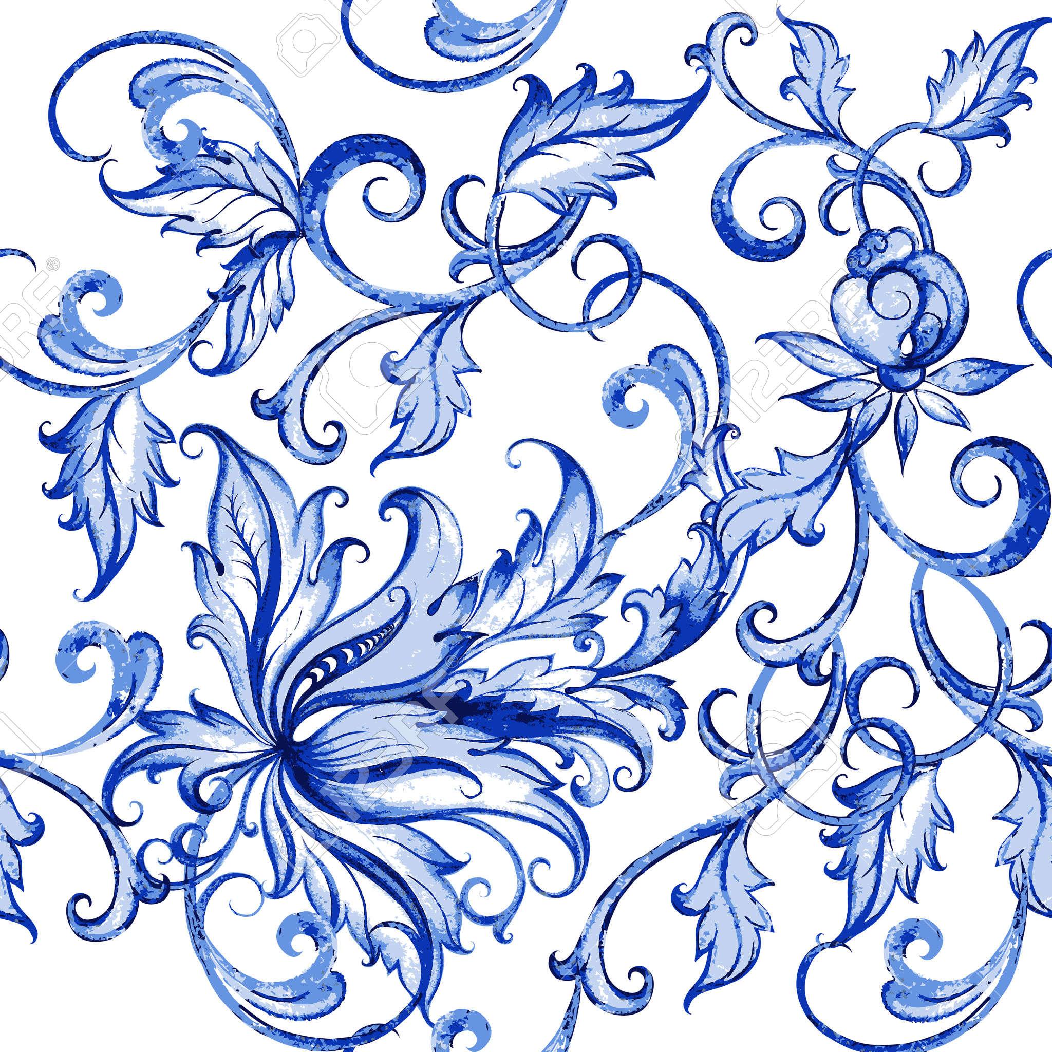 2048x2048 Vector Acquarello Floreale Texture Con Flowers.watercolor Motivo