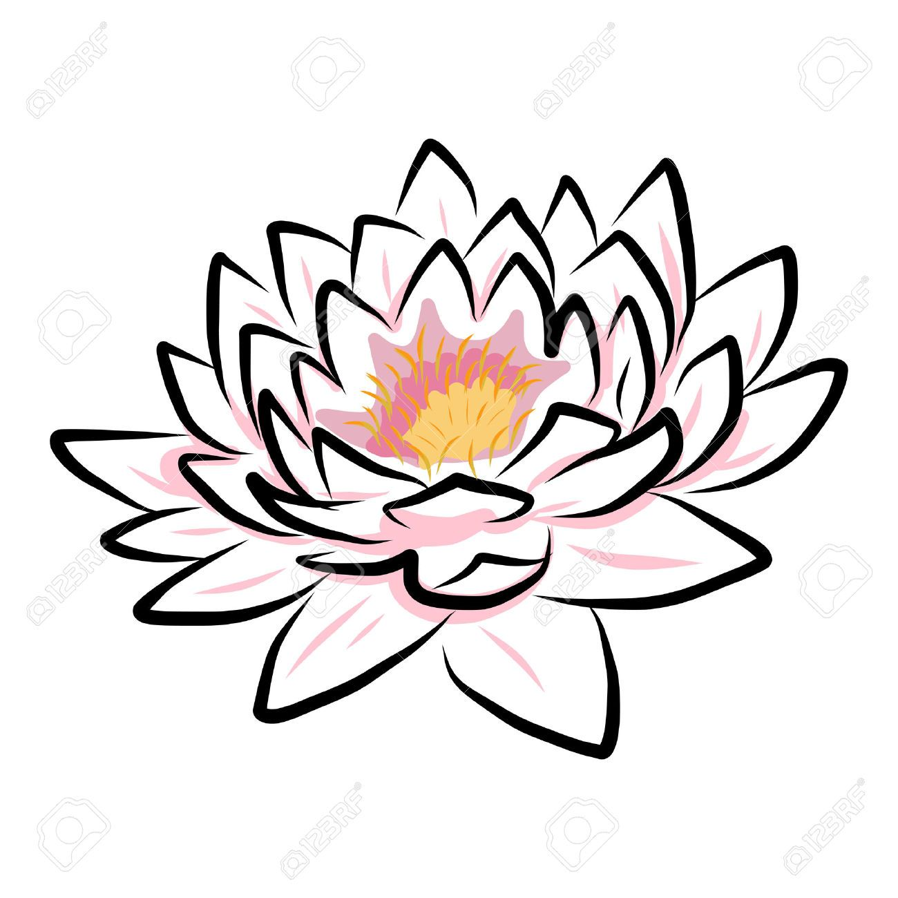 Blue lotus flower drawing at getdrawings free for personal use 1300x1300 23864476 hand drawing water lily lotus flower vector eps10 stock izmirmasajfo
