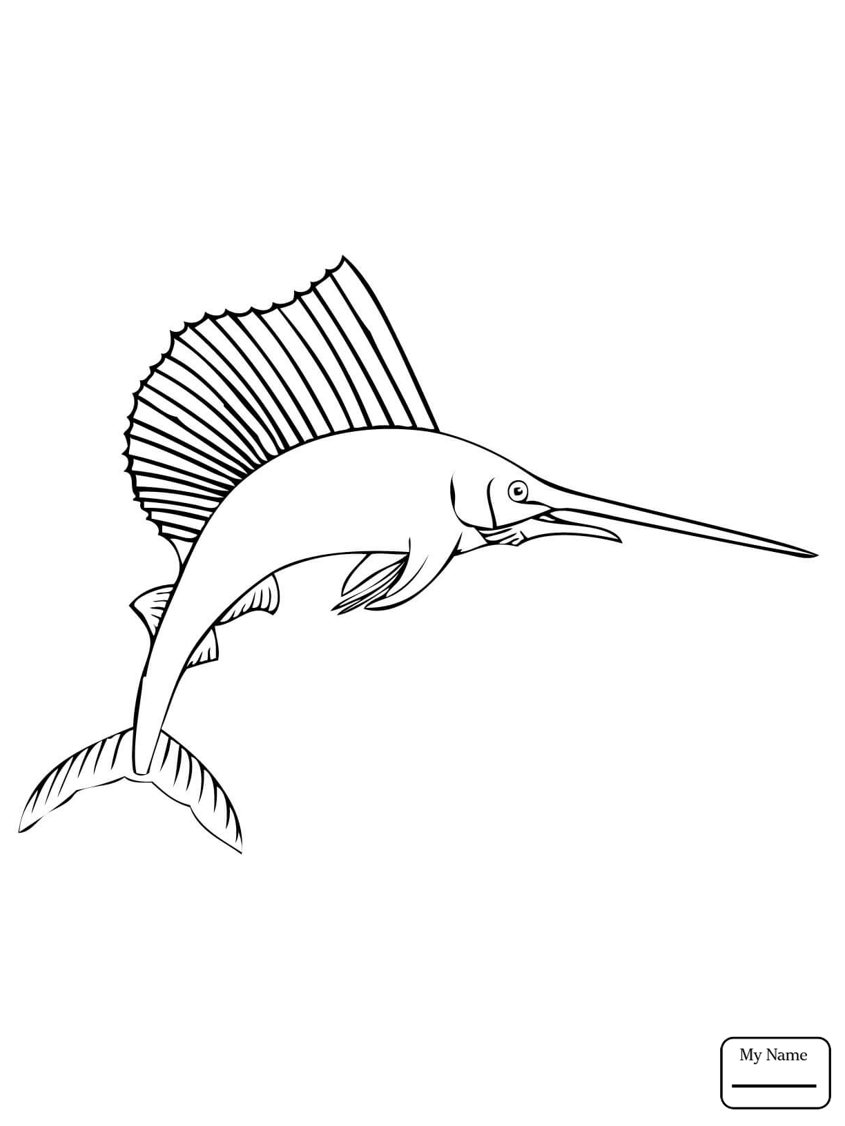 Blue Marlin Drawing at GetDrawings.com | Free for personal use Blue ...