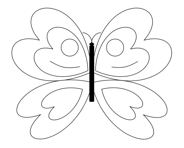 735x593 The Best Butterfly Drawing Images Ideas