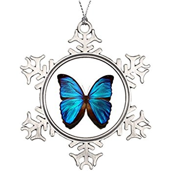 350x350 Inspired Silver Blue Butterfly Classic Holiday