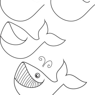 320x320 Tag For How To Draw Cute Whale How To Draw A Blue Whale Step