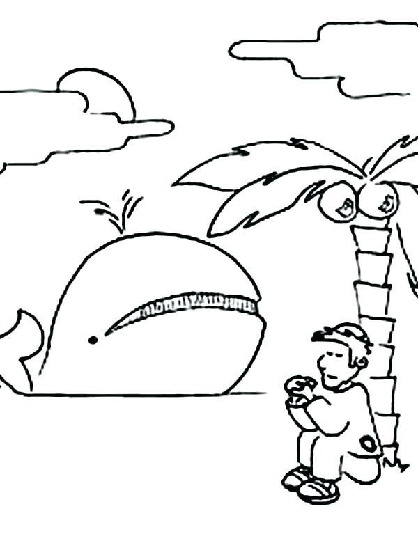 600x777 Whale Coloring Page
