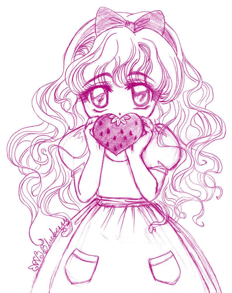 795x1005 Sketch No. 10 Sweet Strawberry By Wilwarin Blueberry