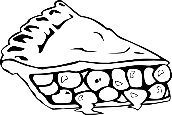594x397 Cherry Pie (B And W) Clip Art