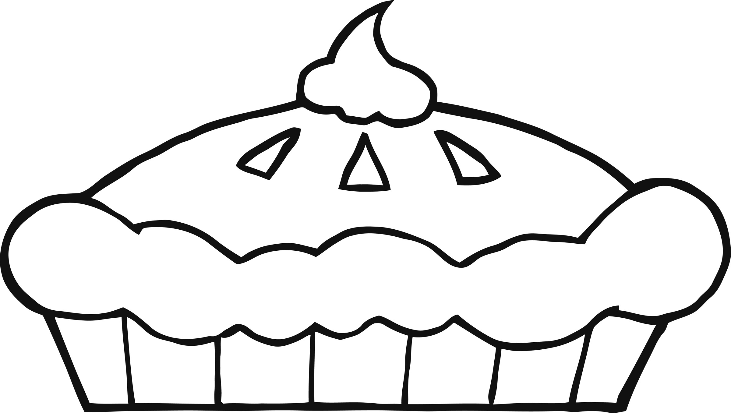2400x1356 Pie Clipart Outline