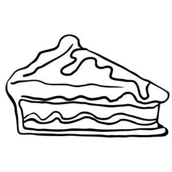 350x350 Free Pie Coloring Sheet