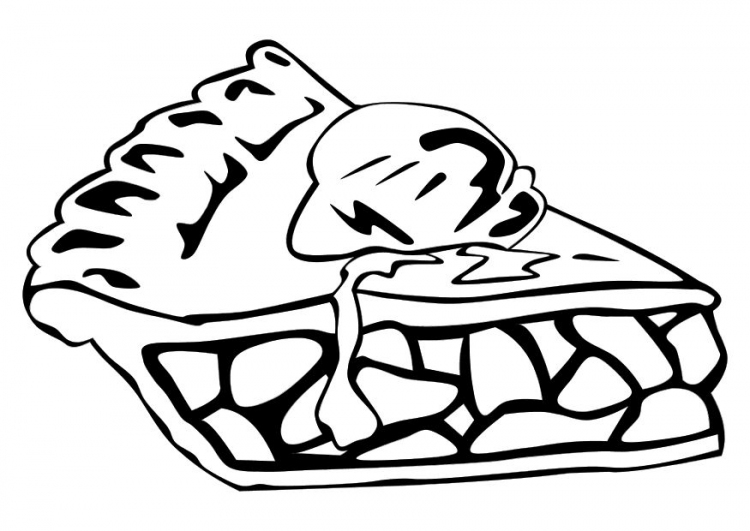 750x531 Apple Pie Coloring Pages