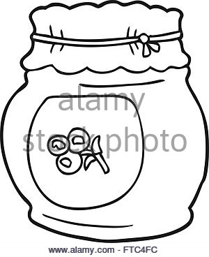 300x368 Black And White Cartoon Illustration Of Blueberry Fruits Food