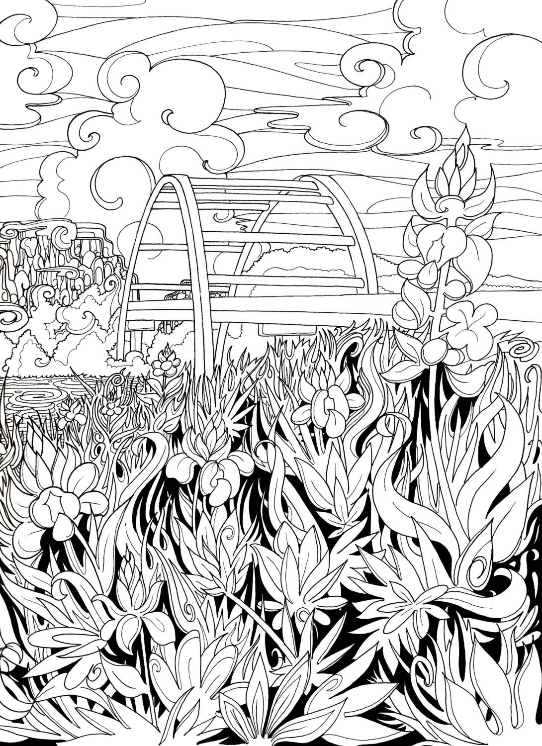 1090x1500 Austin Bluebonnets Coloring Page By Borrelli Illustrations