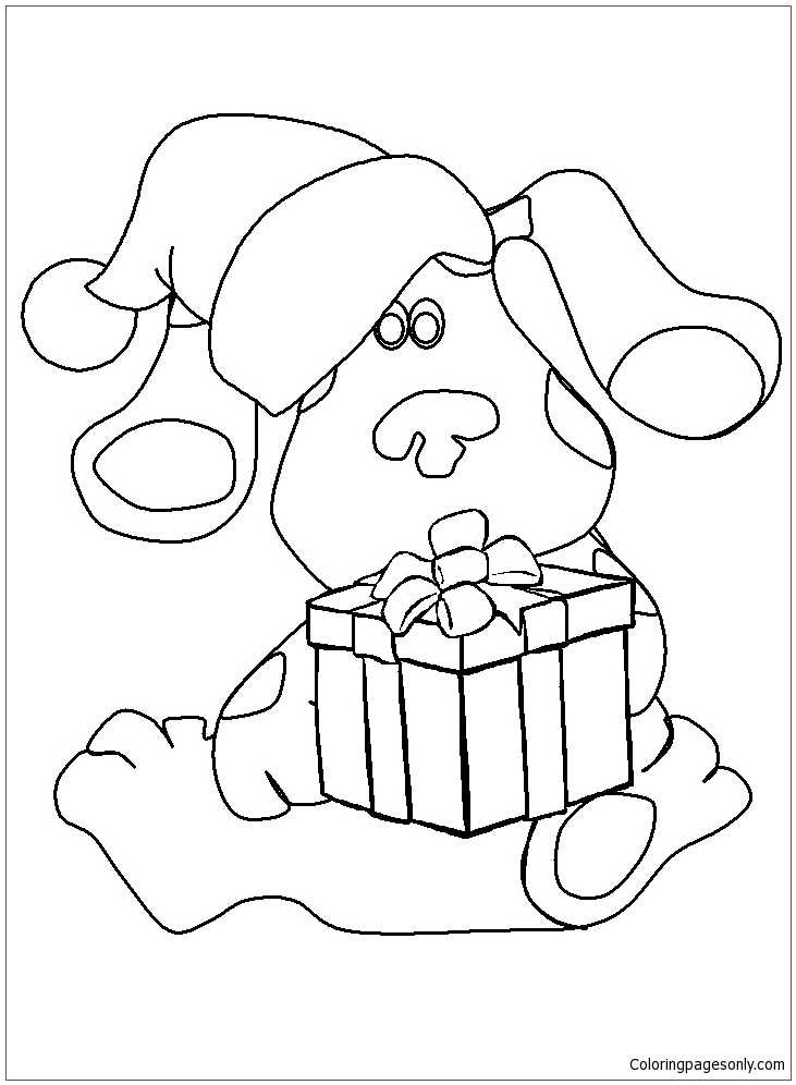 731x996 Blues Clues Coloring Page