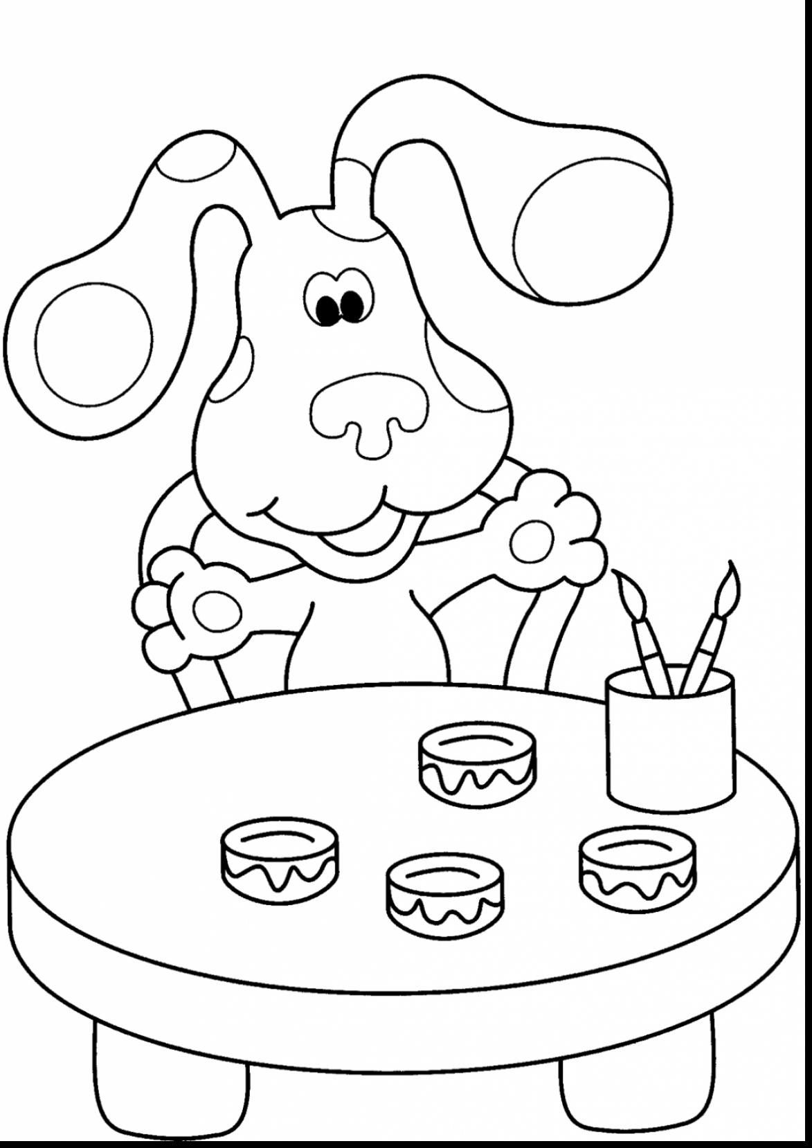 1173x1659 Blues Clues Coloring Pages Best Of Kids N Fun Free Draw To Color