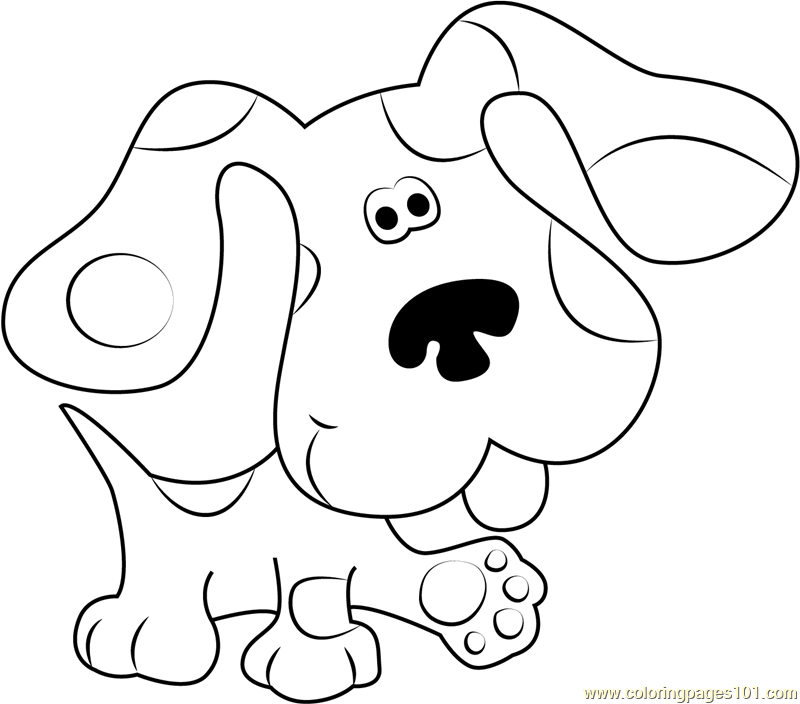 800x704 Blues Clues Walking Coloring Page