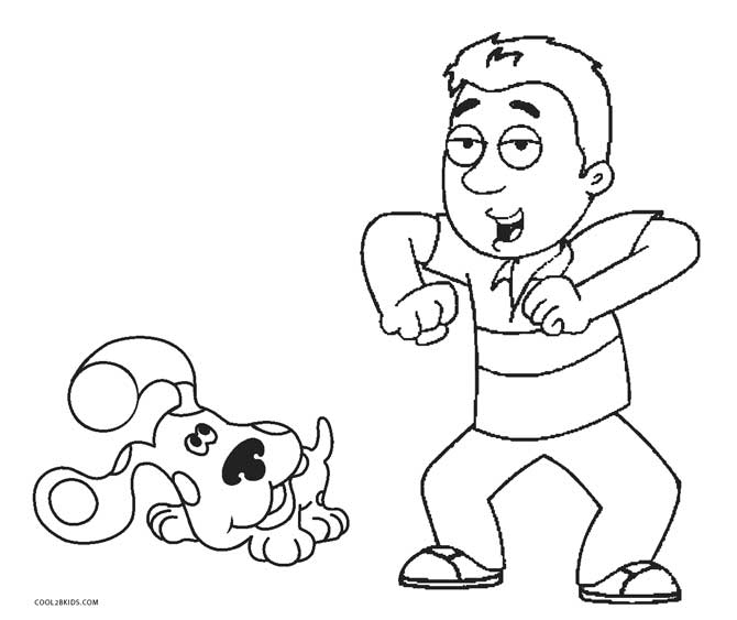 670x563 Free Printable Blues Clues Coloring Pages For Kids Cool2bkids