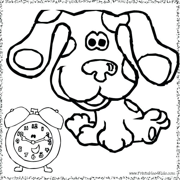 600x600 Minimalist Blues Clues Coloring Pages Free Download With For Kids
