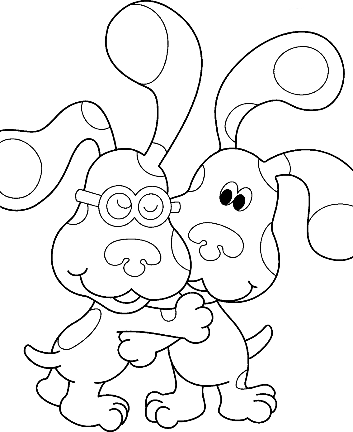 1134x1385 Blue's Clues Coloring Page Coloring Pages For Kids