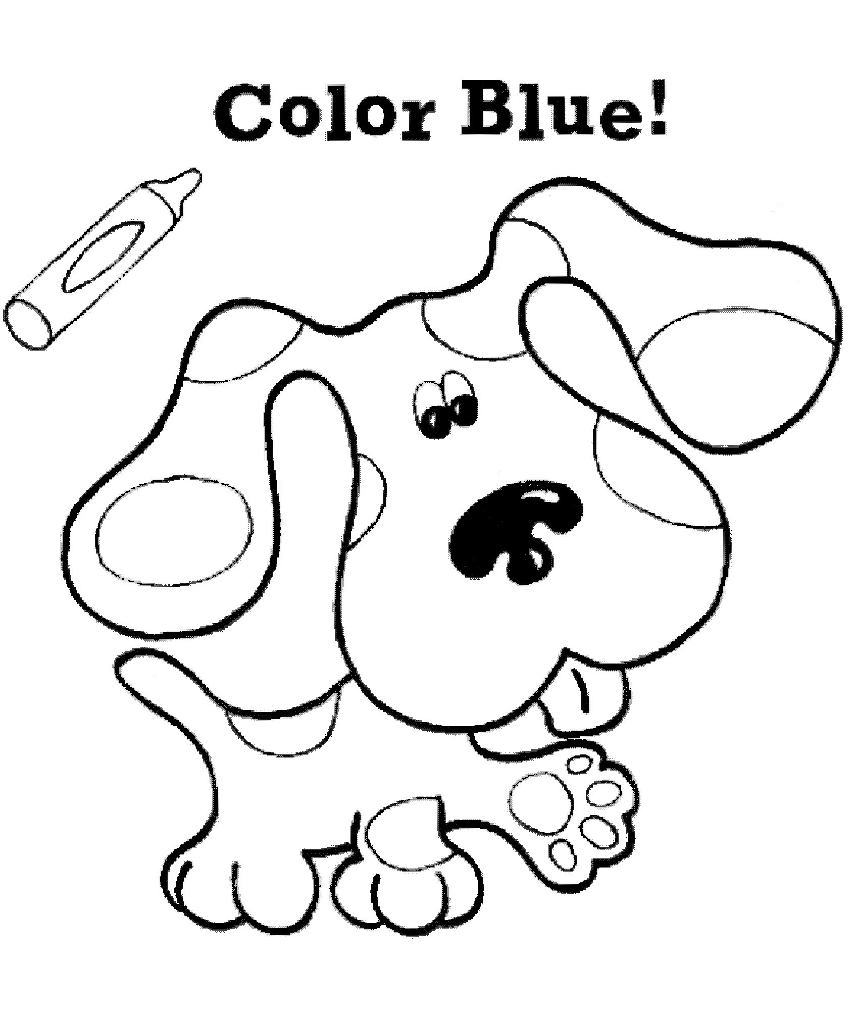 blues clues coloring pages notebook - photo#7