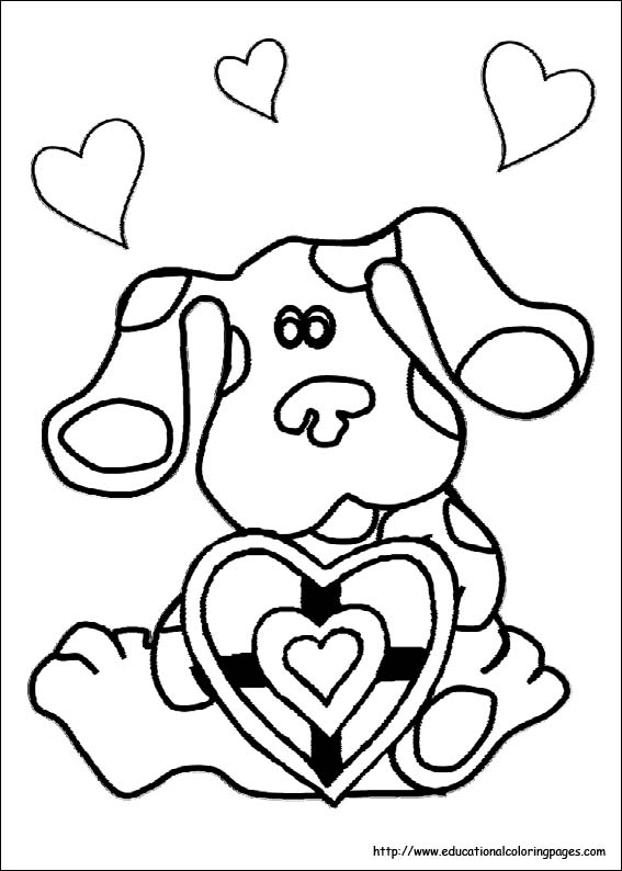 567x794 Blue's Clues Coloring Sheets