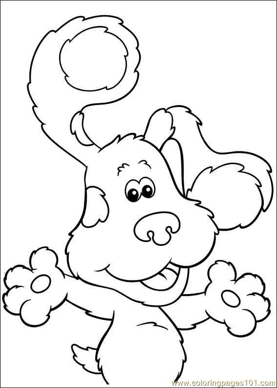 567x794 Blues Clues 19 Coloring Page