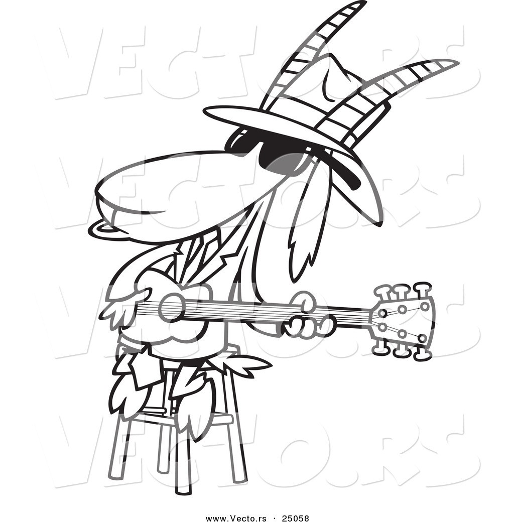 1024x1044 Blues Music Coloring Pages Fresh Vector Of A Cartoon Blues Goat