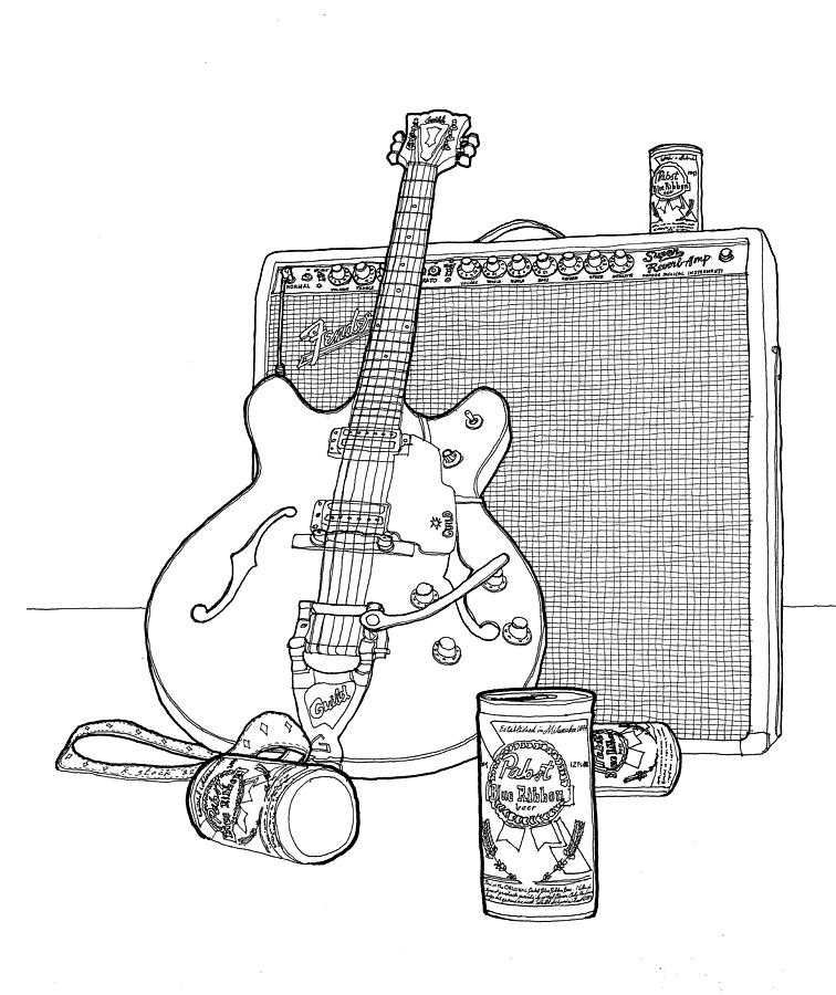 756x900 Pabst Blues Rhythm Drawing By Kenneth Stock