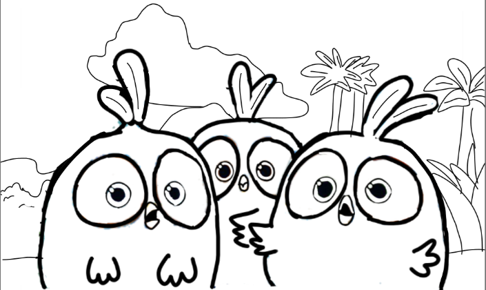 705x420 Angry Birds Blues Coloring Page