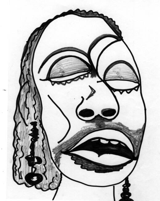 520x656 This Drawing Is Of Ella The Blues Singer. My Drawings