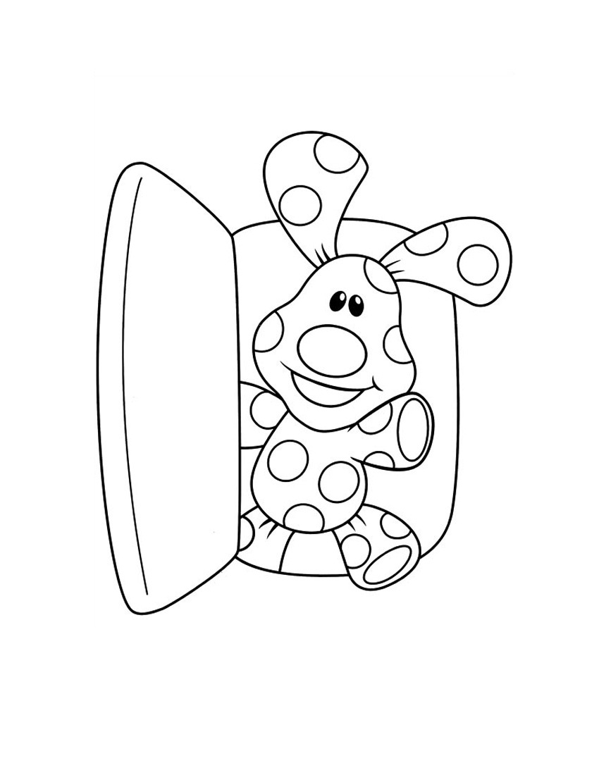 850x1100 Blue Clues Coloring Pages To Print Blues Clues Coloring Pages