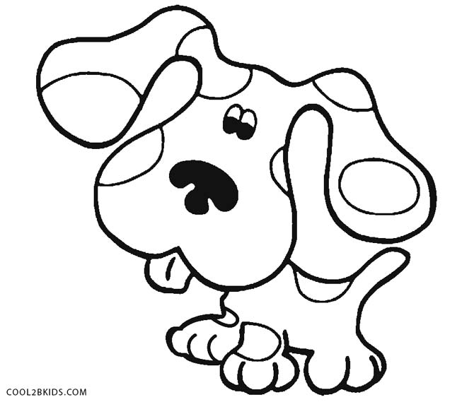 670x569 Blues Clues Coloring Pages