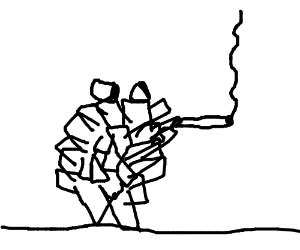 300x250 A Pinecone Man Really Hitting That Blunt