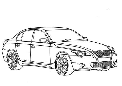 Bmw Car Drawing