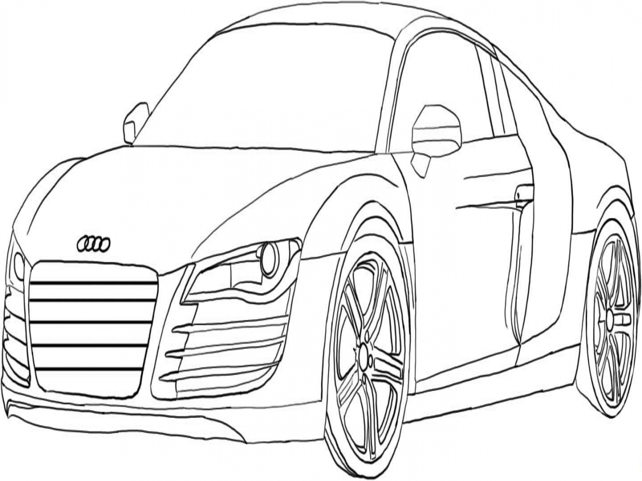 1280x960 Co2 Car Coloring Drawing Of Nice Audi For Kids Coluring Page