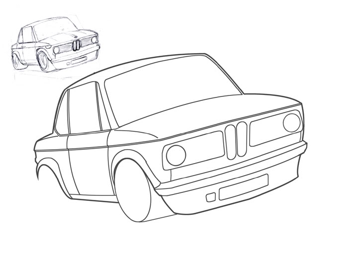bmw car drawing at getdrawings free for personal use bmw car Gold Audi I8 700x537 random drawing e03 3 csl