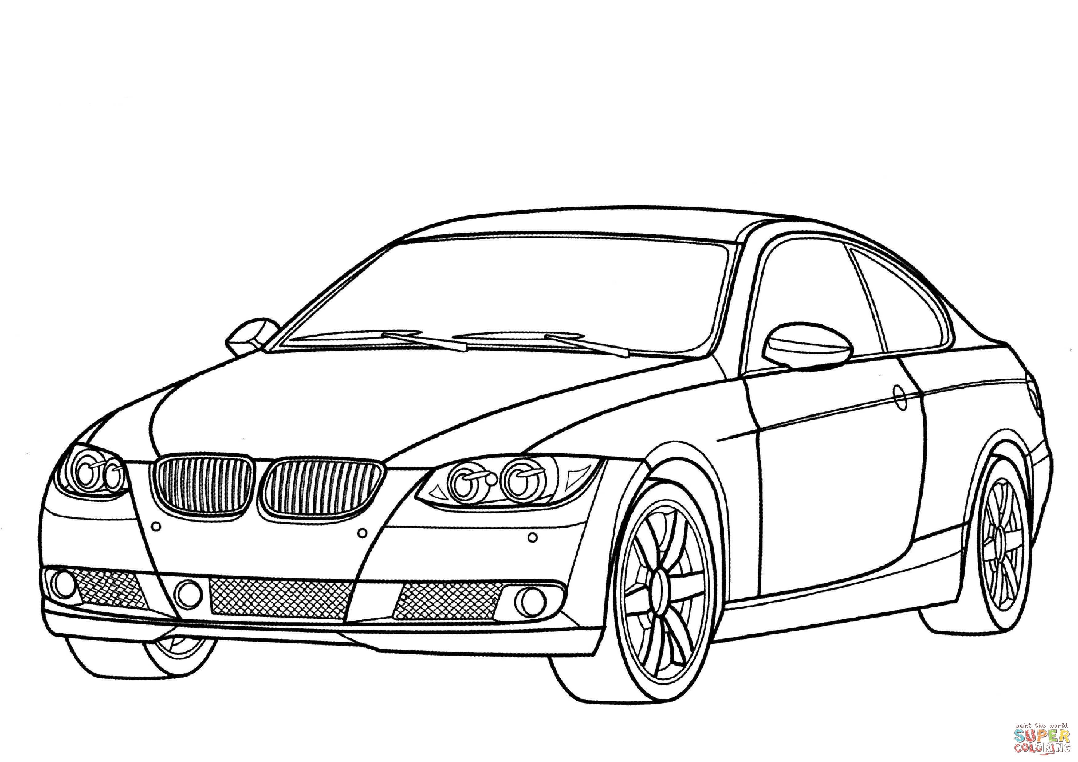 3508x2480 Super Car Bmw 750il Coloring Page For Kids Beautiful Bmw Car