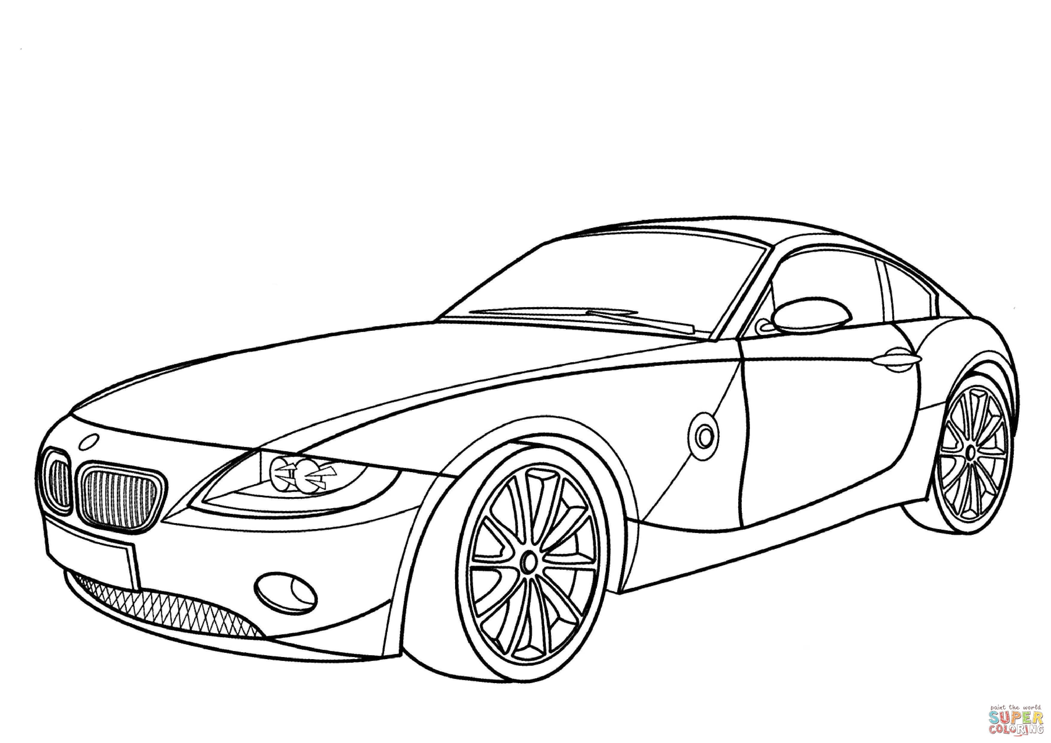 3508x2480 Super Car Bmw Z3 Coloring Page For Kids Awesome Bmw 6 Series