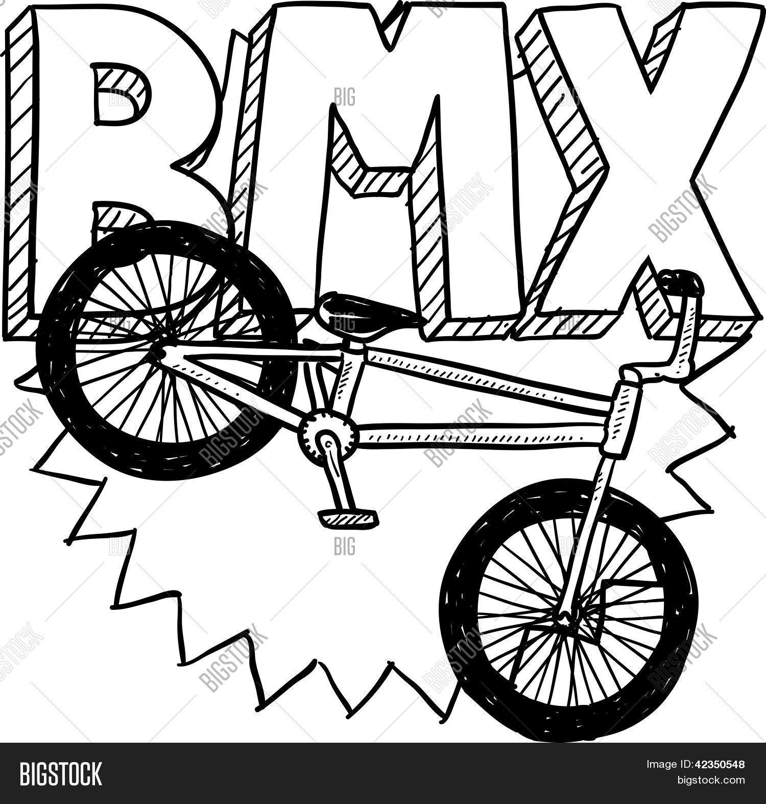 This is a picture of Juicy Bmx Coloring Pages