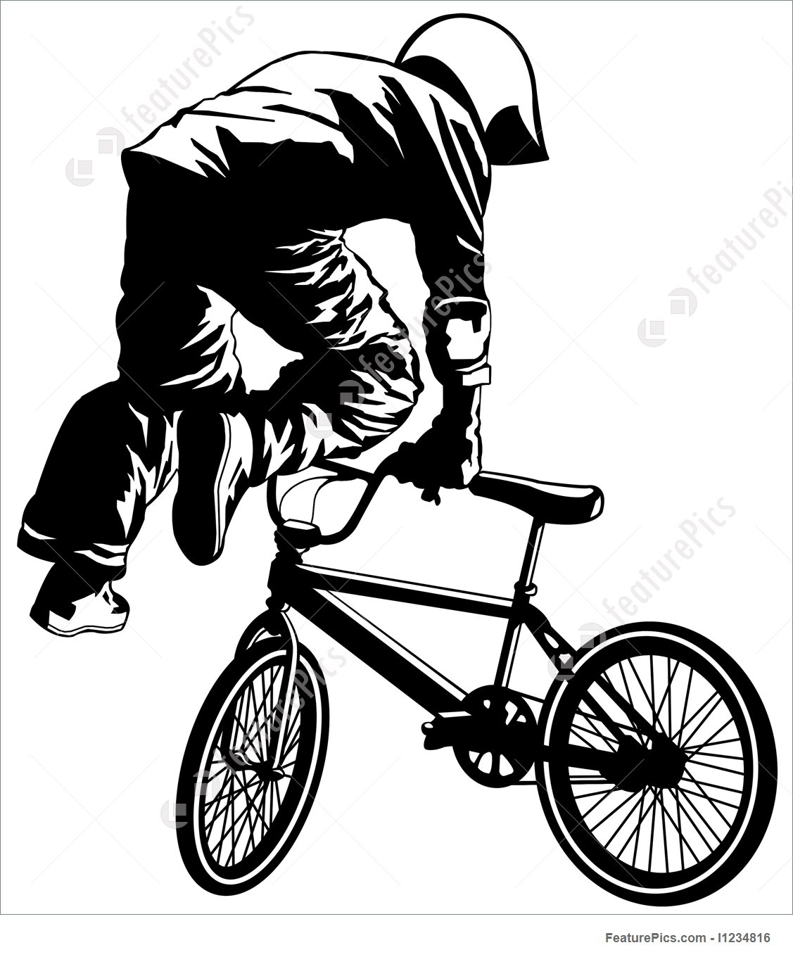 1127x1360 Flying Bmx Stock Illustration I1234816