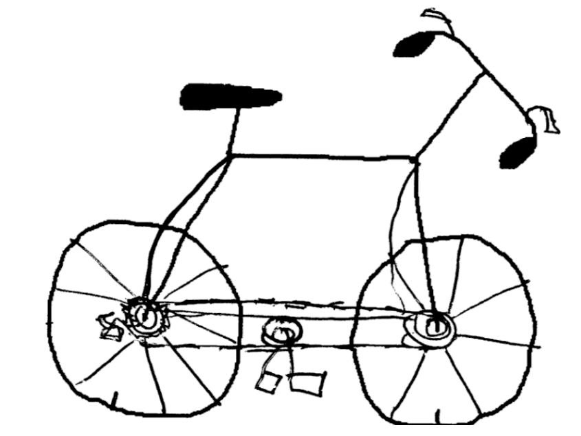 845x635 How To Draw A Cartoon Bicycle