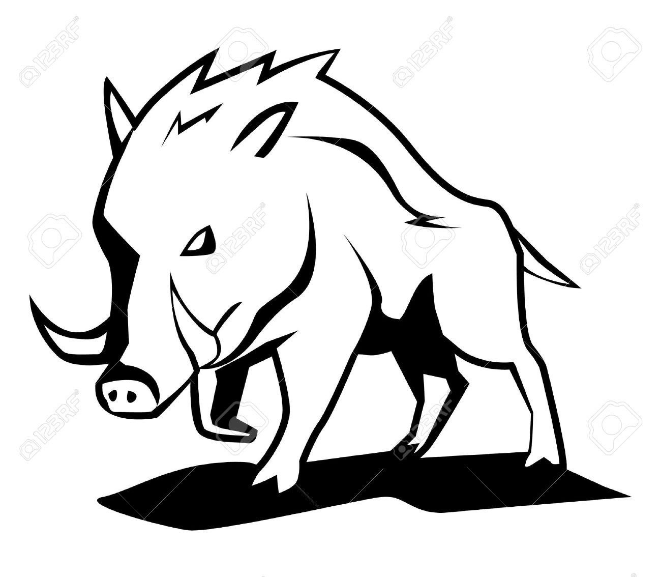 1300x1134 Wild Boar Royalty Free Cliparts, Vectors, And Stock Illustration