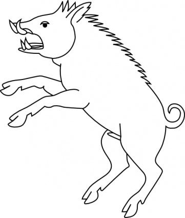 361x425 Wild Boar Clip Art Vector, Free Vector Graphics