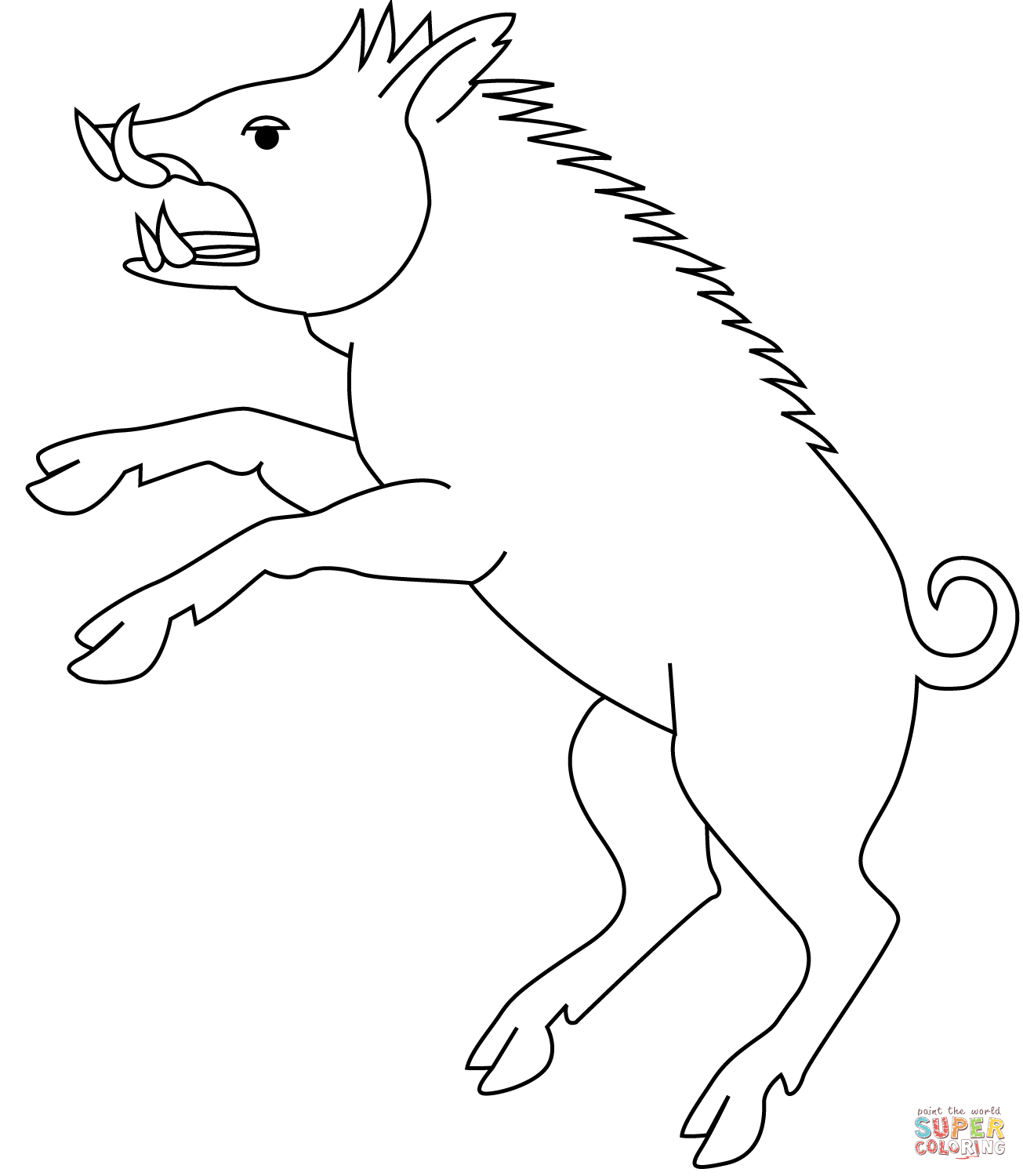 1305x1500 Wild Boar Coloring Page Free Printable Coloring Pages