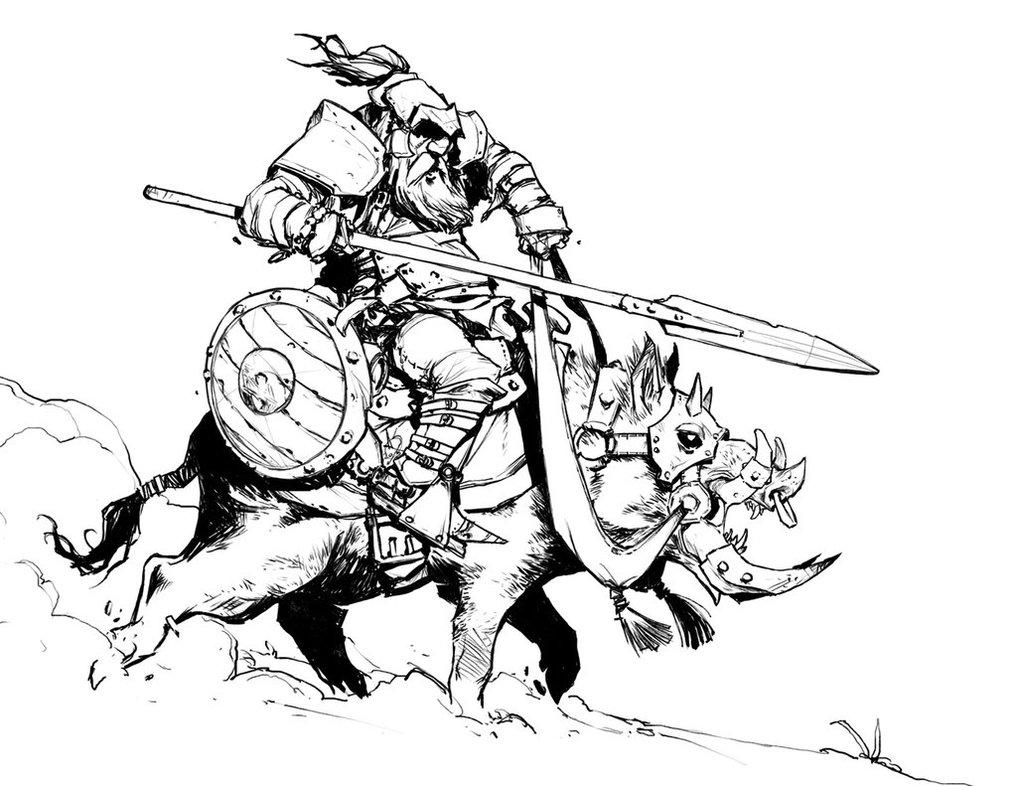 1017x786 Boar Rider By Davidsequeira