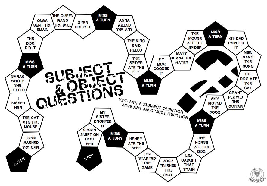 887x617 Esl Matt Erials Grammar Collection Subject And Object Questions