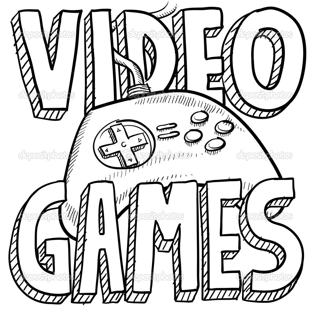 1024x1024 Stunning Design Coloring Pages Games Video Game Crafty Page