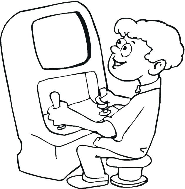 630x643 Unique Video Game Coloring Pages New Interactive Trend Medium Size